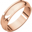 14kt Rose 05.00 mm Half Round Edge Band