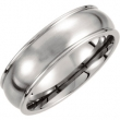 BLACK TITANIUM SIZE 11.50 07.50 MM POLISHED GROOVED BAND