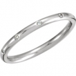 14kt White Band Complete with Stone ROUND 01.30 MM Diamond Polished 1/10CTW DIAMOND ETERNITY BAND