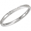 14kt White 06.00 1/6CTW DIAMOND ETERNITY BAND