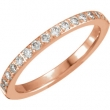 14kt Rose 06.00 Polished 1/3 CTW Diamond Eternity Band