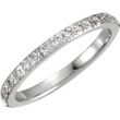 14kt White 06.00 Polished 1/3 CTW Diamond Eternity Band