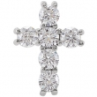 14kt White Complete with Stone 1/2 CTW Diamond Cross Pendant