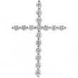 14kt White Complete with Stone .75 CT TW Diamond Cross Pendant