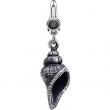 Sterling Silver CHARM Complete No Setting 30.00X08.00 MM Polished SEASHELL CHARM
