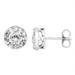 14kt White Complete with Stone Diamond 1 1/3 NONE I/ I2 NONE NONE NONE Pair Polished DIAMOND EARRINGS