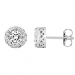 14kt White Complete with Stone Diamond 2 3/8 VARIOUS I/ I2 NONE NONE NONE Pair Polished DIAMOND EARRINGS