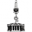 Sterling Silver CHARM Complete No Setting 21.00X12.00 MM Polished WHITE HOUSE CHARM