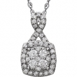 14kt White 3/4 CTW Diamond Necklace