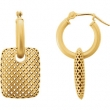 14kt Yellow EARRING Complete No Setting NONE Pair Polished METAL FASHION EARRINGS