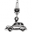 Sterling Silver CHARM Complete No Setting 14.00X10.00 MM Polished CAR CHARM