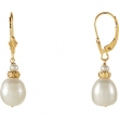EARRING NONE VARIOUS VARIOUS PEARL NONE Complete with Stone 14kt Yellow Polished FRSHWTR CULTURED PRL DROP EAR