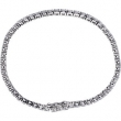 Sterling Silver BRACELET Complete with Stone ROUND 03.00 MM CUBIC ZIRCONIA Polished 7 INCH CZ BRACELET