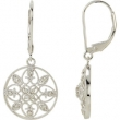 14kt White EARRING Complete with Stone NONE ROUND VARIOUS I1 G/H Polished 1/4 CTW DIAMOND EARRINGS