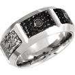 Cobalt 12.50 10.00 MM POLISHED CASTED BAND .24CTW BLACK DIAM