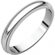 Continuum Sterling Silver 03.00 mm Milgrain Band