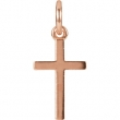 14kt Rose CHARM Complete No Setting 20.40X08.85 MM Polished POSH MOMMY COLL CROSS CHM W/JR
