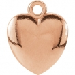 14kt Rose CHARM Mounting 10.85X08.90 MM Polished POSH MOMMY COLLECT HEART CHARM
