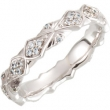 Continuum Sterling Silver Band Complete with Stone 07.00 NONE Round VARIOUS NONE Polished 1/3CTW DIA ETERNITY BAND