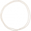 NECKLACE Complete with Stone 72.00 INCH ROUND 08.00-09.00 MM PEARL Polished FRSHWTR CUL WHITE PRL ROPE NCK