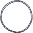 NECKLACE Complete with Stone 72.00 INCH ROUND 08.00-09.00 MM PEARL Polished FRSHWTR CUL BLACK PRL ROPE NCK