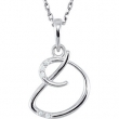 Necklace D Round 01.00 mm Diamond I2 Complete with Stone Sterling Silver Polished .03CTW DIA 18 INCH NECKLACE