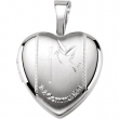 Sterling Silver 12.50X12.00 MM Polished 1ST COMMUINION HEART LOCKET