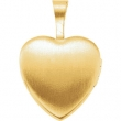 Gold Plated Sterling 12.50X12.00 MM Polished MI PRIMERA COMUNION HEART LOCK
