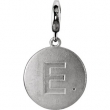 Sterling Silver Pendant Mounting E ROUND 01.00 MM No Stone Polished INITIAL DIS CHARM W/GMSTN ACC