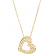 14kt Yellow NECKLACE Complete with Stone ROUND VARIOUS Diamond Polished 1/4CTW DIA HEART NECKLACE