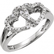 Sterling Silver Ring 05.00 Complete with Stone ROUND VARIOUS Polished .05CTW DIA HEART RING