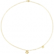 14kt Yellow NECKLACE COMPLETE NO SETTING 18.00 INCH Polished NONE
