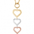 14kt Rose/14kt Yellow/14kt White NECKLACE COMPLETE NO SETTING 18.00 INCH Polished NONE