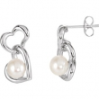 Sterling Silver EARRINGS COMPLETE WITH STONE PAIR 17.94X11.95 MM Polished NONE