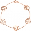 14kt Rose BRACELET COMPLETE NO STONE 07.00 INCH Polished NONE
