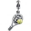 Sterling Silver 18.00X9.50 MM Polished KERA TENNIS DANGLE