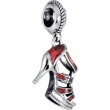 Sterling Silver 18.00X12.00 MM Polished KERA RED HEEL DANGLE