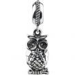 Sterling Silver 15.00X3.00 MM Polished KERA OWL DANGLE