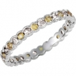 14kt White COMPLETE WITH STONES YELLOW SAPPHIRE AND DIAMOND Polished NONE