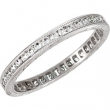 14kt White Band Complete with Stone 07.00 ROUND 01.30 mm Diamond Polished 1/2 CTW DIAMOND ETERNITY BAND