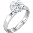 14kt White Complete with Stone Diamond SI2-SI3 04.40 mm Polished 1 1/5 CTW Diamond Engagement Ring