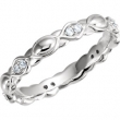 14kt White Band Complete with Stone Diamond I2 07.00 Polished 1/8 CTW Diamond Sculptural Eternity Band