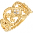 14kt Yellow COMPLETE WITH STONES RING SIZE 07.00 Polished NONE