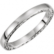 14kt White Band Mounting 07.00 NONE NO STONE NO STONE NONE Polished RING MOUNTING