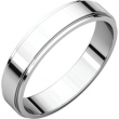 Sterling Silver 04.00 mm Flat Edge Band