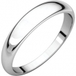 Sterling Silver 04.00 mm Half Round Tapered Band