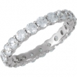 14kt White Band 06.00 Complete with Stone ROUND 03.00 MM Polished 1 9/10 CTW ETERNITY BAND