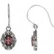Sterling Silver COMPLETELY SET RHODOLITE GARNET PAIR 28.60X10.80 MM Polished NONE