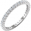 14kt White SIZE 05.50 UNSET Polished NONE