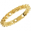 14kt Yellow Band 07.00 Mounting ROUND 03.00 MM Polished 21-STONE ETERNITY BD MOUNTING